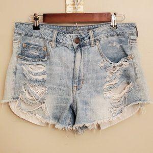 AE Hi-Rise Festival Destroyed Jean Shorts